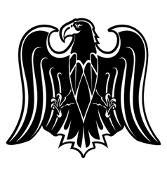 Black silhouette of eagle vector image vector image