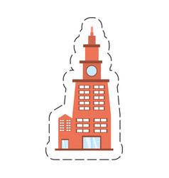 Cartoon building contemporary city vector