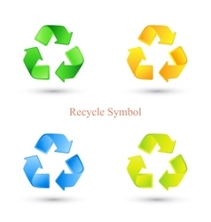 Colorful set of recycle signs vector image