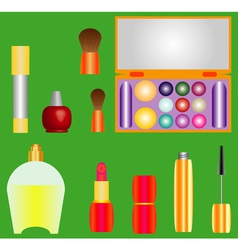 Decorative cosmetics vector image vector image