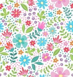 Floral color seamless pattern vector image vector image