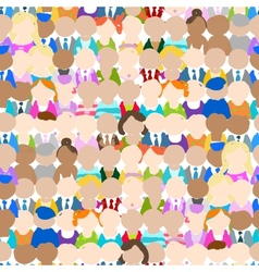 Seamless pattern with people icons for your design vector image vector image