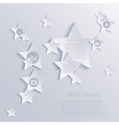 star background design Eps10 vector image
