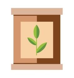Tea pack with green tea leaf food packaging vector image vector image