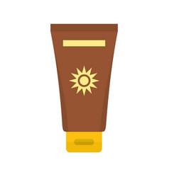 cream sun protection icon flat style vector image