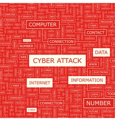 CYBER ATTACK vector image vector image