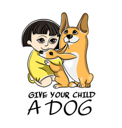 drawing in a children style image of dog vector image