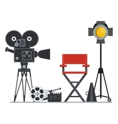film set director chair vector image vector image