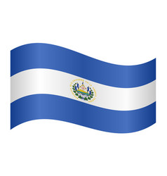 flag of el salvador waving on white background vector image vector image
