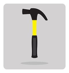 flat icon hammer vector image