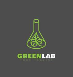 Green lab logo vector