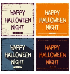 Halloween postcards set vector image vector image