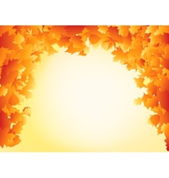 Orange autumn leaves frame design EPS 8 vector image vector image