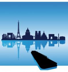 Paris silhouette skyline vector image vector image
