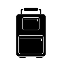 silhouette suitcase luggage travel handle vector image