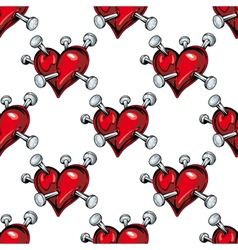 Bleeding hearts seamless pattern vector image vector image