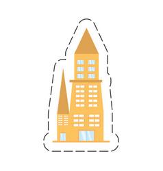 cartoon building architecture urban vector image
