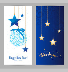christmas and new years holiday greeting card vector image vector image