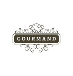 Gourmand Restaurant banner vector image vector image