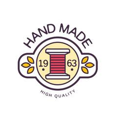Handmade logo template high quality since 1963 vector