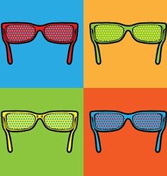 sunglasses lichtenstein pop art vector image