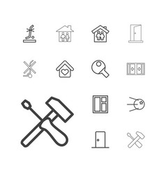 13 inside icons vector