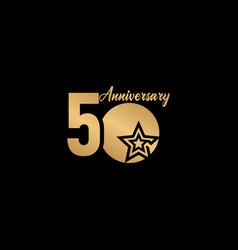 50 years anniversary celebration star gold logo vector
