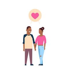 African couple in love full length avatar vector