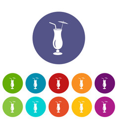 alcoholic cocktail icon simple style vector image