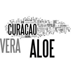 Aloe vera benefits text word cloud concept vector
