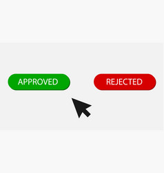 approved stamp button approved and rejected in vector image