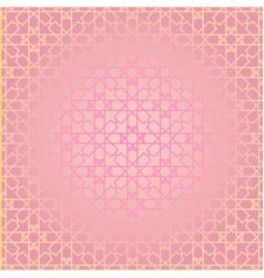 arabesque geometric seamless contour pink pattern vector image