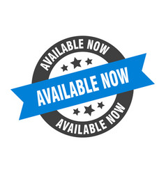 available now sign now blue-black round vector image