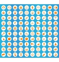 B2B icons round set vector