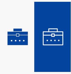 Bag worker bag user interface line and glyph vector