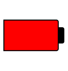 battery condition charge down to empty vector image