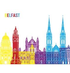 Belfast skyline pop vector image