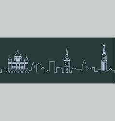 bern single line skyline vector image
