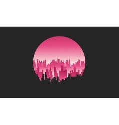 Big city silhouettes vector