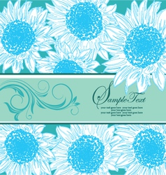 blue floral bridal shower card vector image
