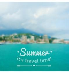 Blurred summer landscape background vector