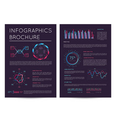 Business presentation template with infographics vector