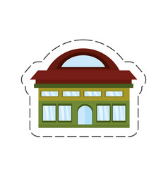 Cartoon building classic construction vector