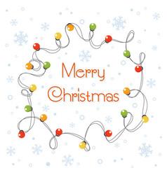 cartoon glowing christmas vector image