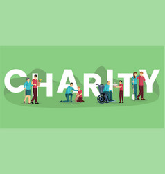 Charity word concept banner template vector