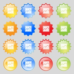 Chart icon sign Big set of 16 colorful modern vector image
