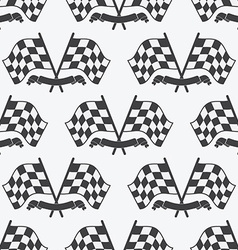 Checkered flag seamless pattern racing flags icon vector