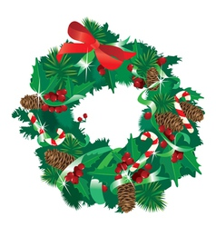 Christmas garland isolated on white background vector image