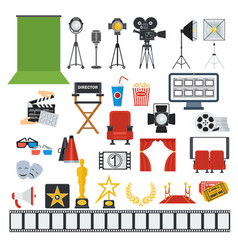 cinema and videoprodaction icons vector image