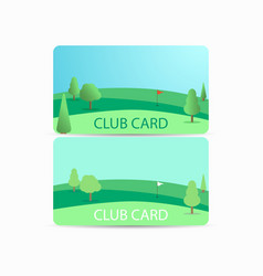 club card with a golf course membership in a golf vector image